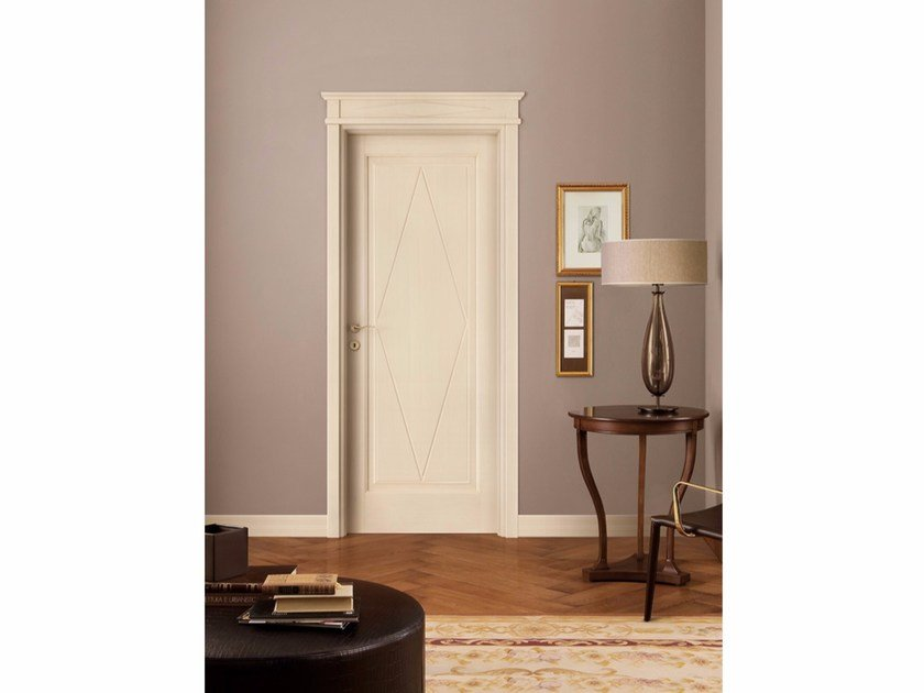 Lacquered solid wood door ROMBI by LEGNOFORM