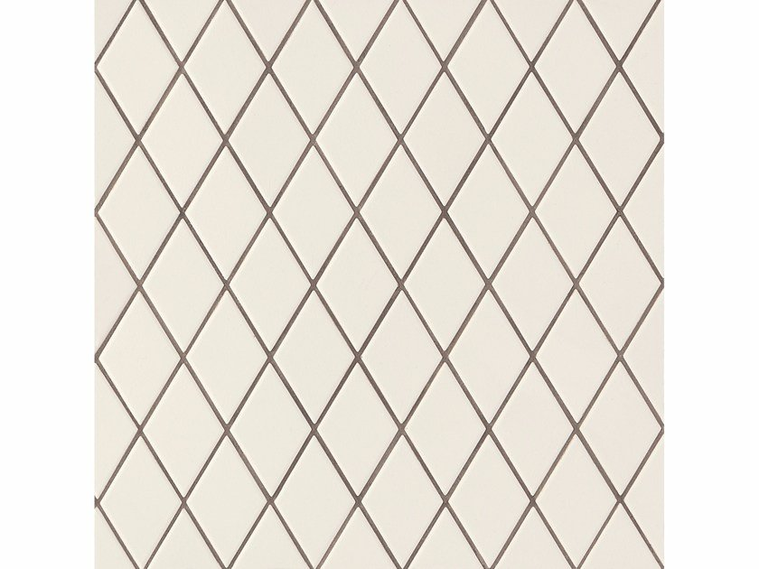 Porcelain stoneware wall/floor tiles ROMBINI LOSANGE WHITE GREY by MUTINA