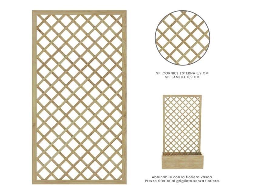 Self-supporting wooden vertical gardening trellis ROMBO by Zuri Design