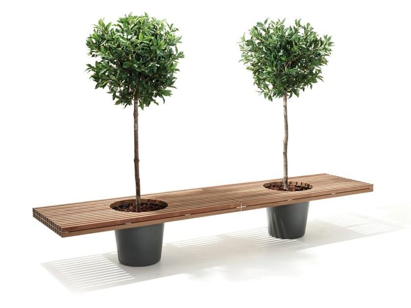 Garden bench Wood ROMEO & JULIET by Extremis