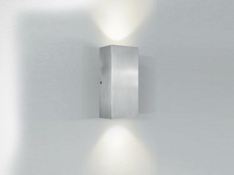 LED direct-indirect light wall lamp RON by PANZERI
