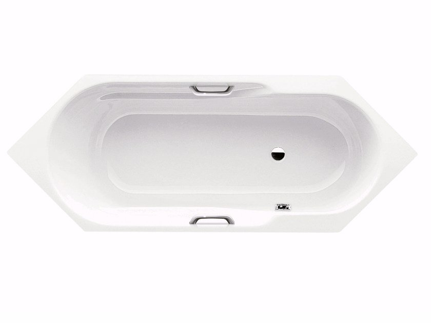 Built-in hexagonal steel bathtub RONDO 6 STAR by Kaldewei Italia