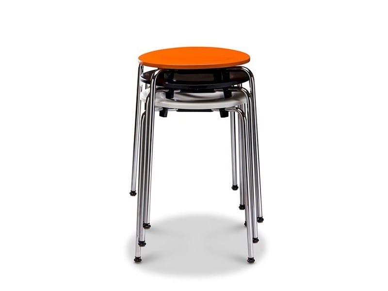 Stackable wood veneer stool RONDO STOOL by Danerka