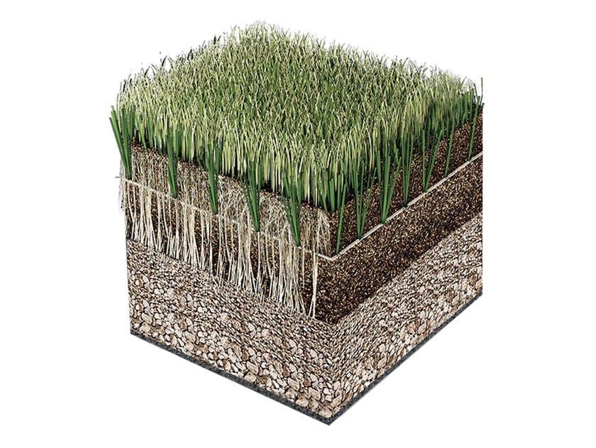 Sistema ibrido erba naturale e sintetica per ambito urbano ROOFINGREEN HYBRID by Roofingreen