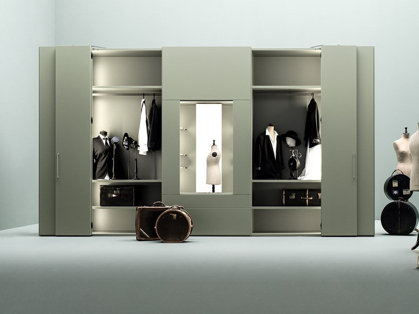 Armadio con specchio girevole e apertura totale ROOMY | Armadio con specchio by Caccaro