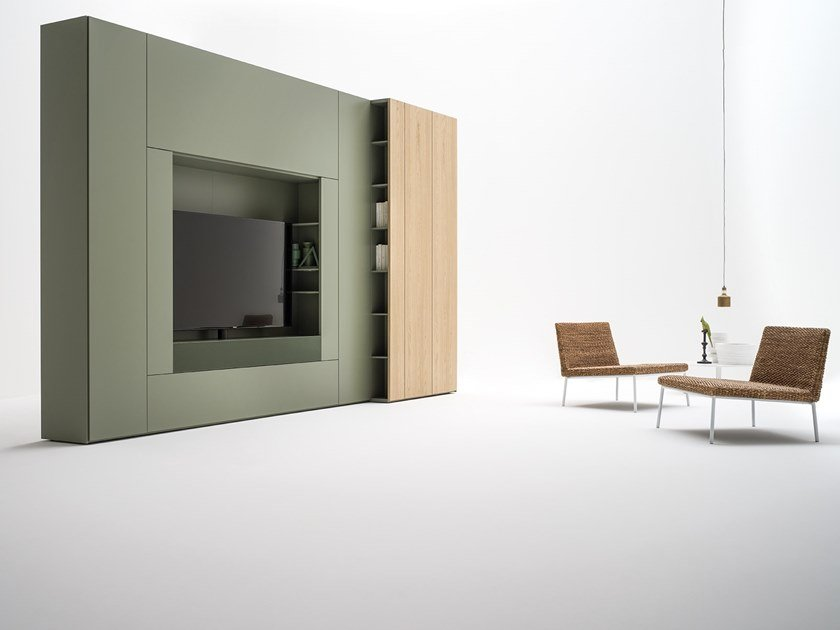 Tv Wall System Roomy Wardrobe With Built In By Caccaro