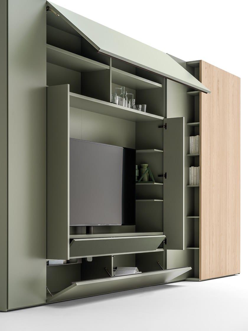 Armadio Con Tv Integrata.Armadio Con Modulo Tv E Cambio Profondita Roomy Armadio