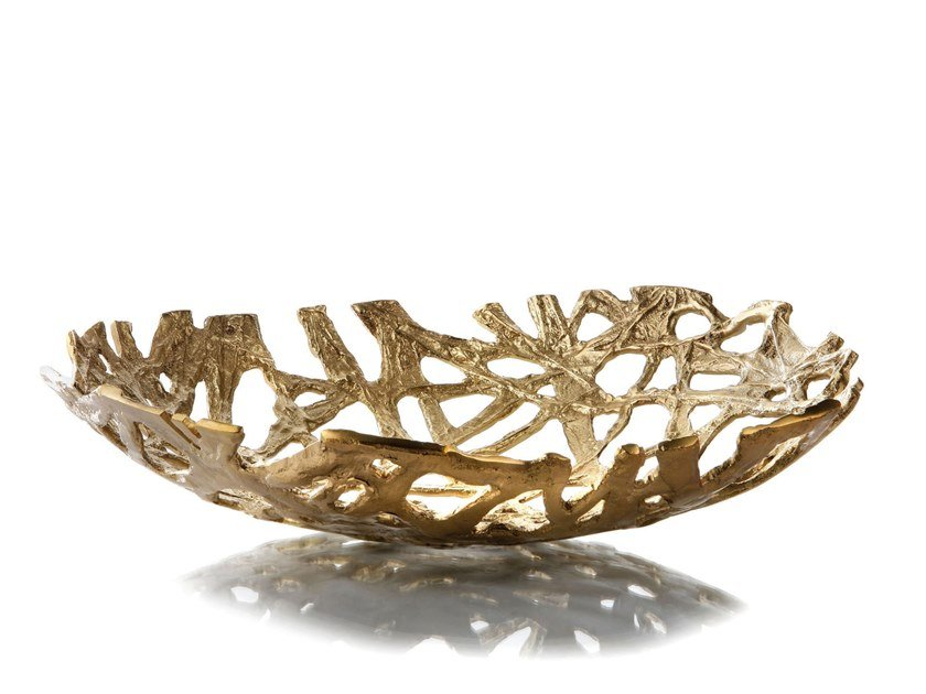 Brass fruit bowl ROOTS by Zieher
