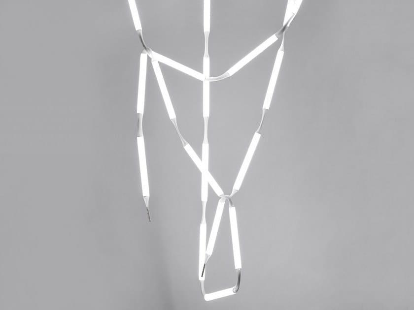 LED pendant lamp ROPE LIGHT CHANDELIER by AKTTEM