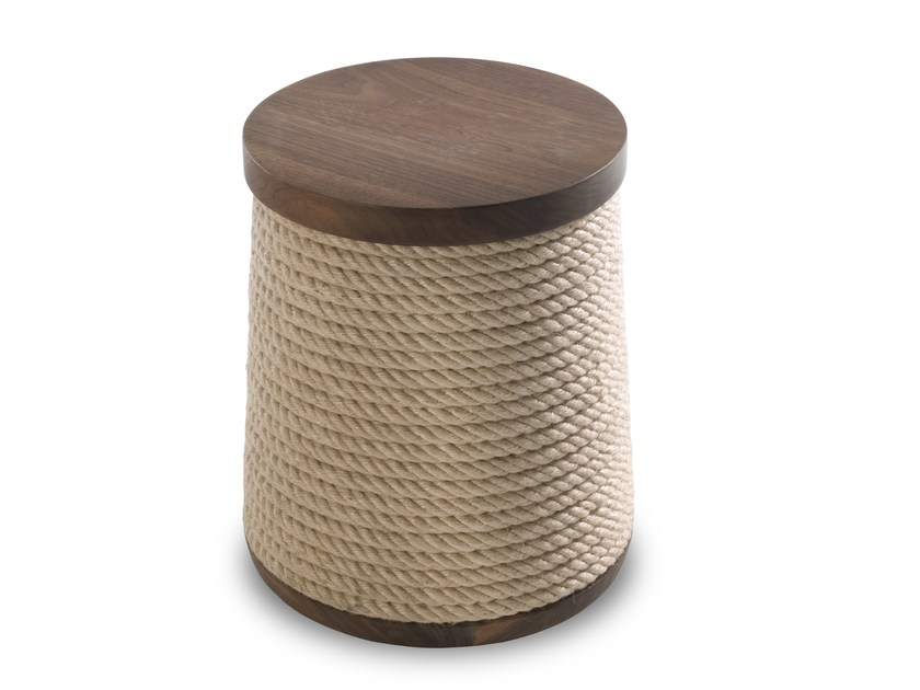 Solid wood stool ROPE by Riva 1920