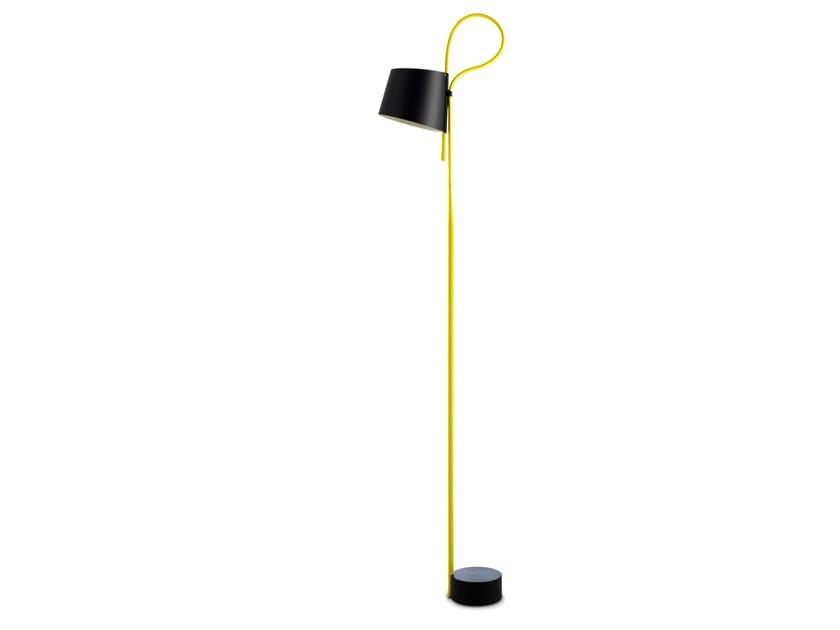 LED aluminium floor lamp ROPE TRICK by Hay