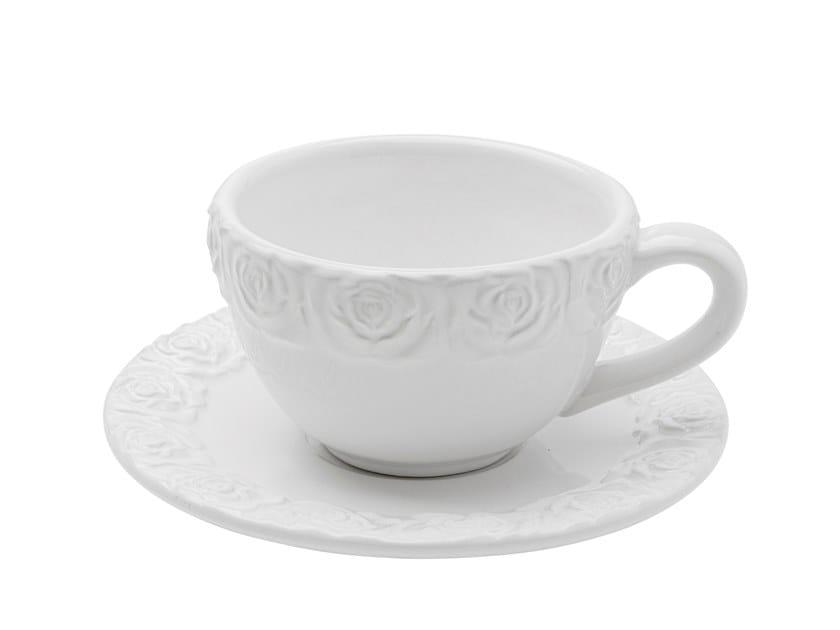 Tazza da caffè in ceramica con piattino ROSA | Tazza con piattino by KARE Design