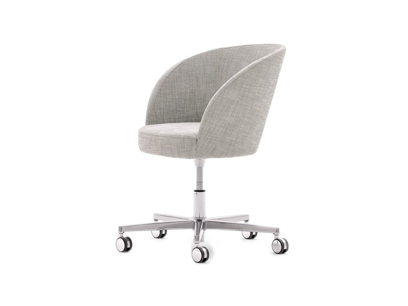 Upholstered height-adjustable chair with casters ROSE 03033 by Montbel