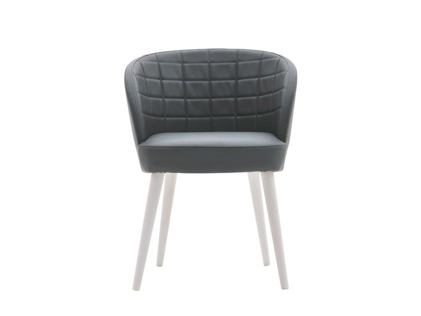 Upholstered chair with armrests ROSE 03034 by Montbel