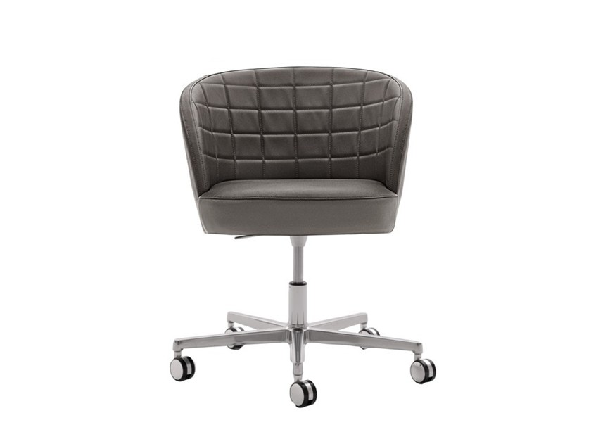 Upholstered height-adjustable chair with casters ROSE 03036 by Montbel