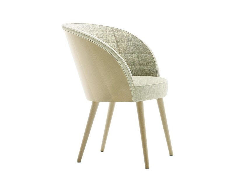 Upholstered chair with armrests ROSE 03038 by Montbel