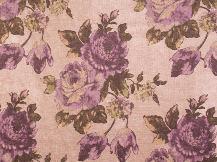 Synthetic fibre fabric with floral pattern for curtains ROSE GARDEN by Gancedo
