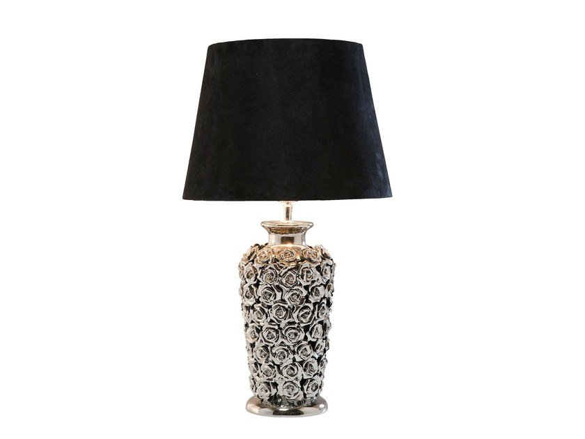 Porcelain stoneware table lamp ROSE MULTI by KARE-DESIGN