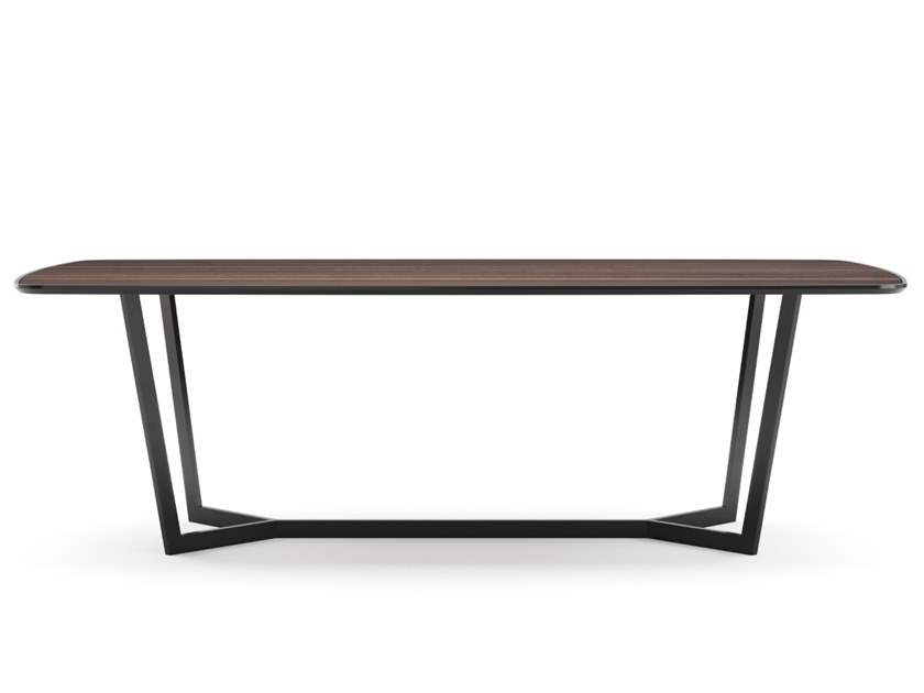 Contemporary style lacquered oval wood-product dining table ROSE by PRADDY