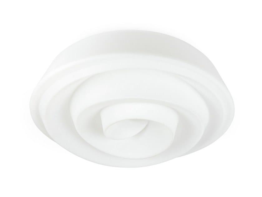Plafoniera a LED in polietilene ROSE_S by Linea Light Group