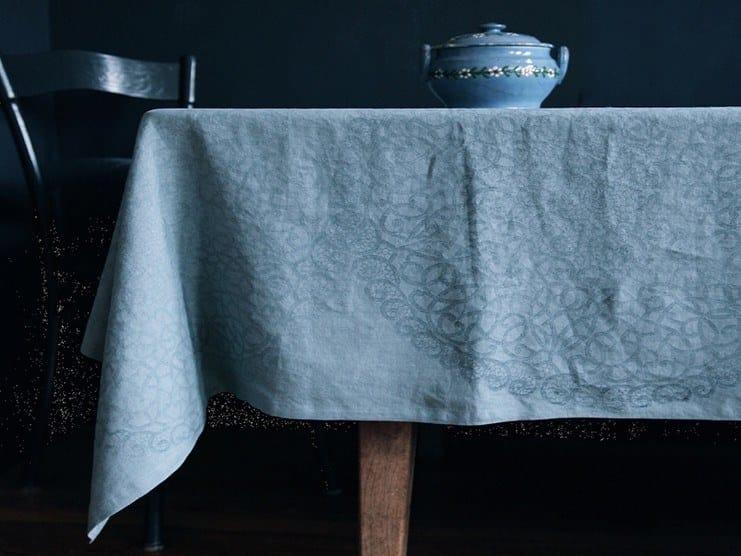 Linen tablecloth ROSETTE | Tablecloth by Birgit Morgenstern Studios