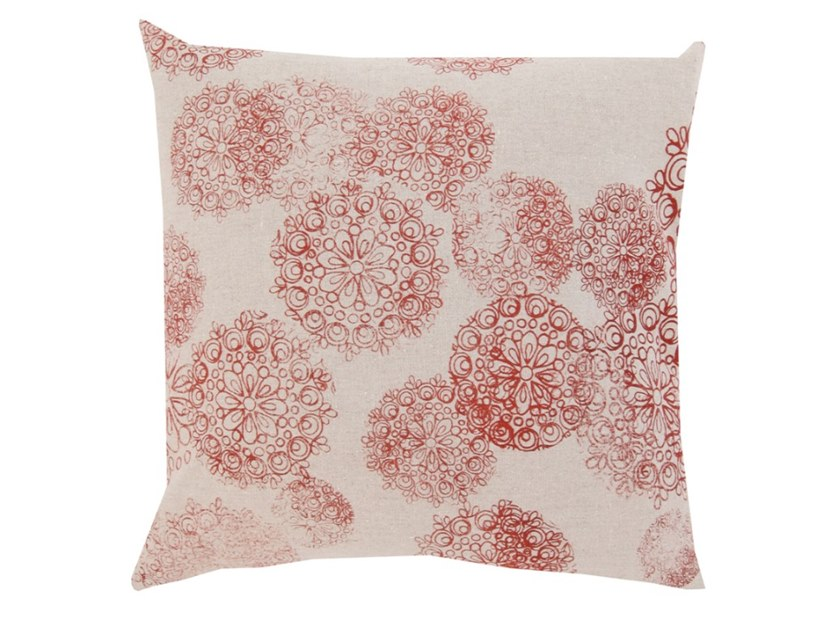 Square linen cushion ROSETTE | Cushion by Birgit Morgenstern Studios