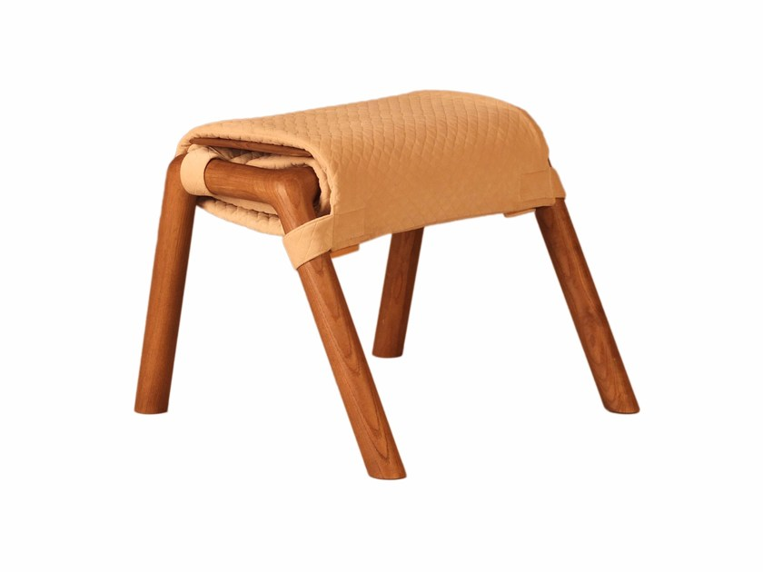 Wooden stool ROTOLINO by Morelato