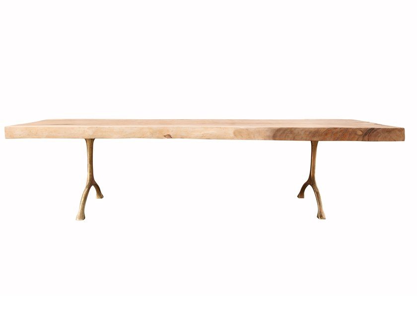 Rectangular solid wood table ROUGH by NORR11