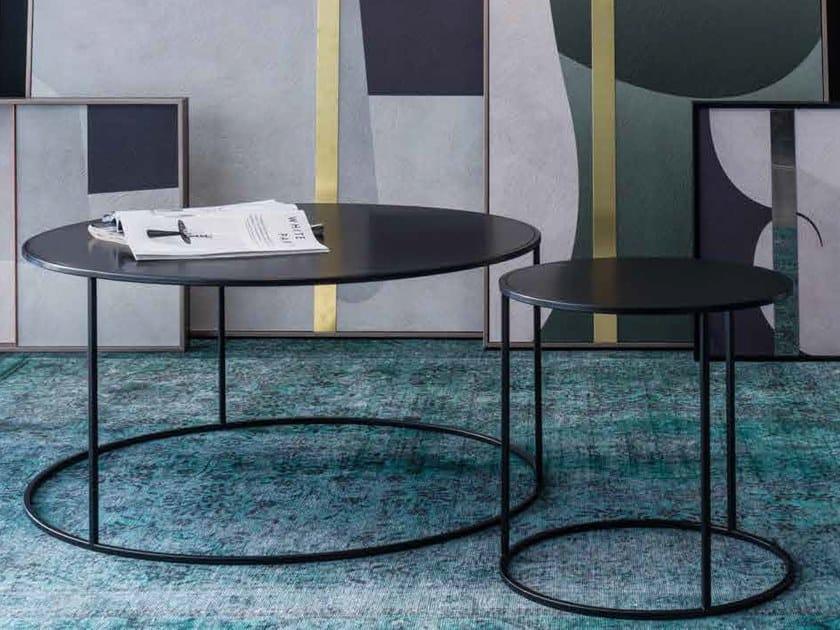 Mesa de centro redonda de metal estilo moderno para sala de estar ROUND by Adriani e Rossi edizioni