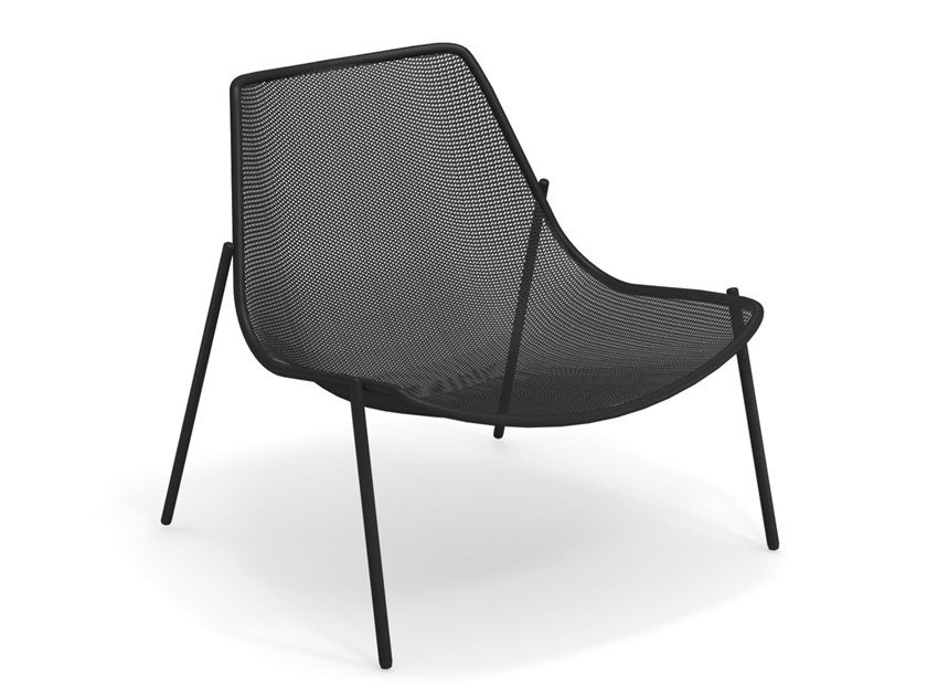 Garden steel easy chair ROUND | Easy chair by emu