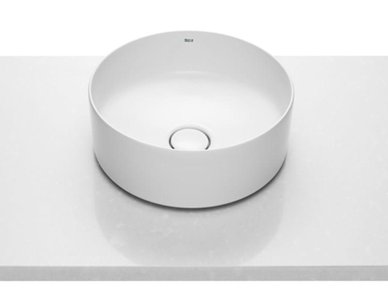Lavabo da appoggio rotondo in ceramica ROUND   Lavabo by ROCA SANITARIO