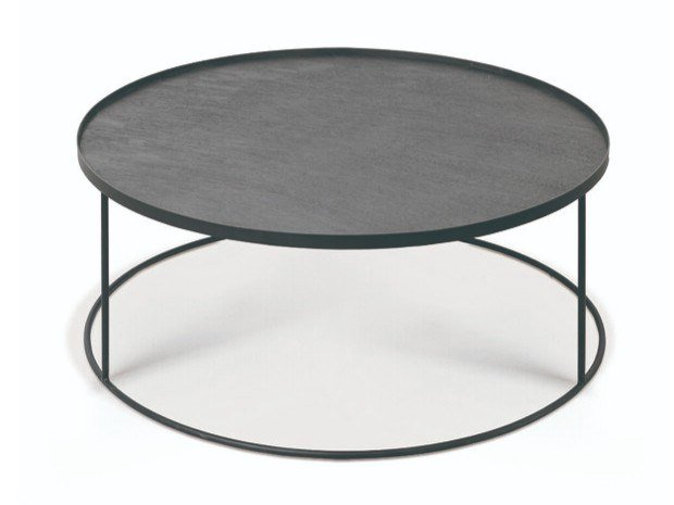 Round Tray Table Coffee By, Black Coffee Table Tray Round