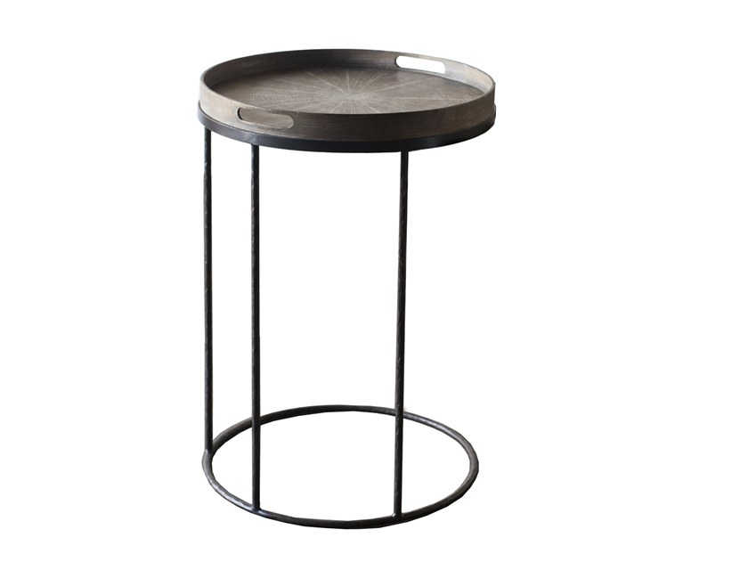 Gentil Round Coffee Table With Tray ROUND TRAY TABLE   SMALL By Notre Monde