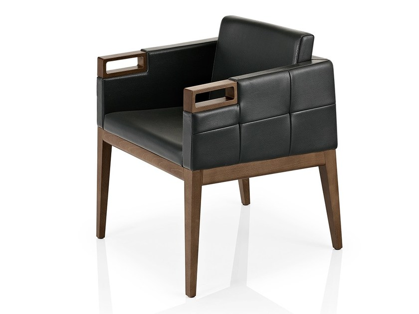 Leather easy chair with armrests ROVEN | Easy chair with armrests by JMS