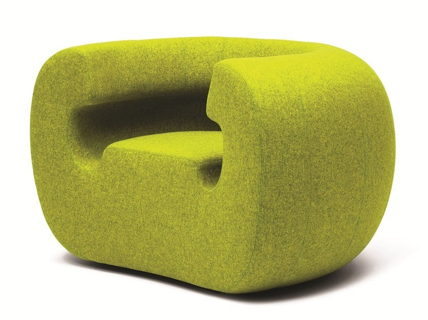 Expanded polyurethane easy chair ROXANNE by Gufram