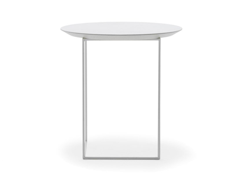 Frauflex Roxy Round Wooden And Metal Bedside Table