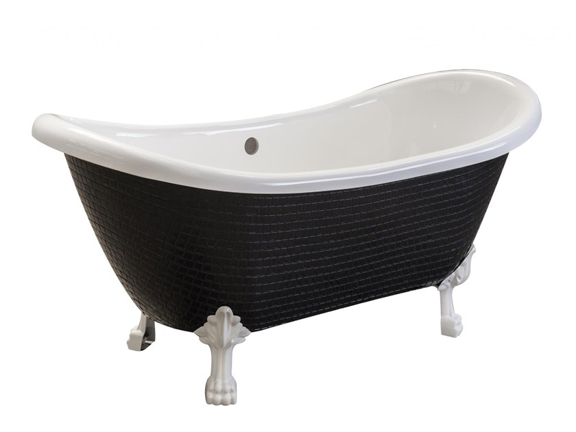Freestanding bathtub on legs ROYAL - PURE BLACK by Saikallys