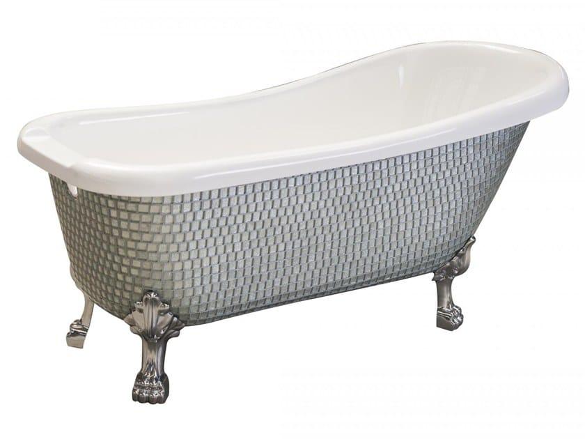 Freestanding bathtub on legs ROYAL - GLOSSY SILVER by Saikallys