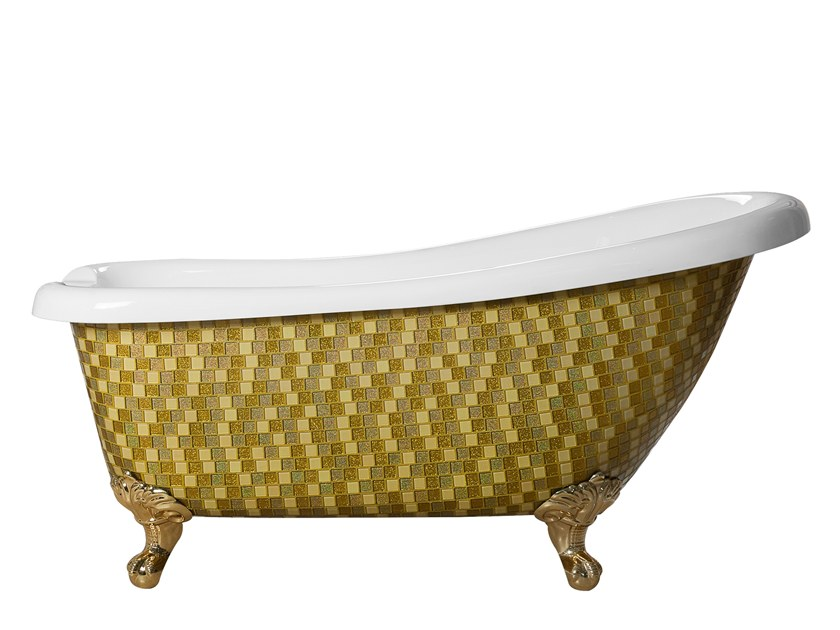 Freestanding bathtub on legs ROYAL - GOLD MIX by Saikallys