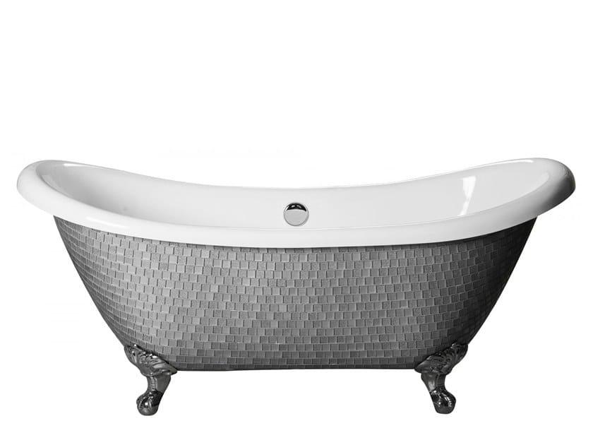Freestanding bathtub on legs ROYAL - MIX SILVER by Saikallys