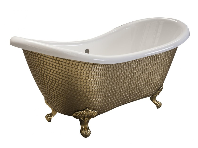 Freestanding bathtub on legs ROYAL - NEW GOLD by Saikallys
