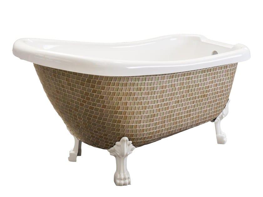 Freestanding bathtub on legs ROYAL - PINKY GOLD By Saikallys