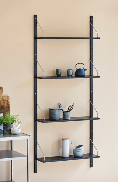 Black stained oak shelving unit ROYAL SYSTEM® by dk3
