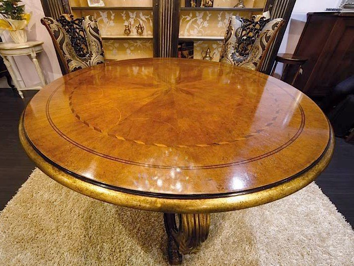 Round solid wood living room table ROYAL | Table by Arvestyle