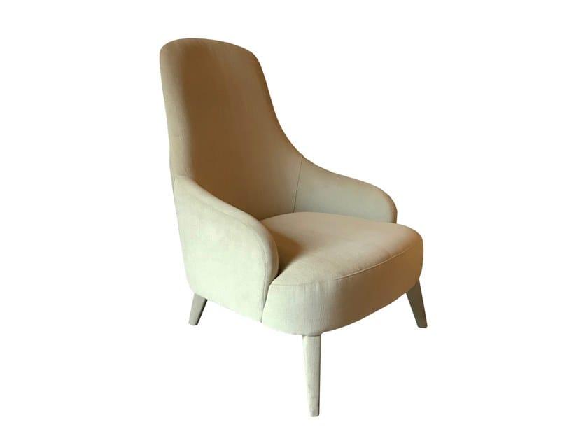 High-back fabric armchair ROYAL X by Conceito Casa