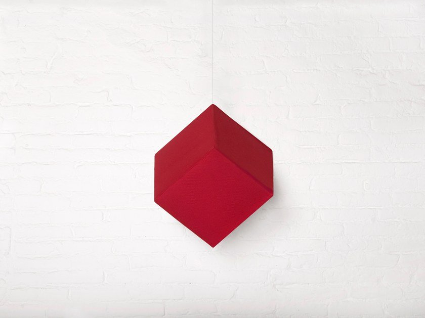 Fabric hanging acoustical panel RP CUBE by Mat&Mat