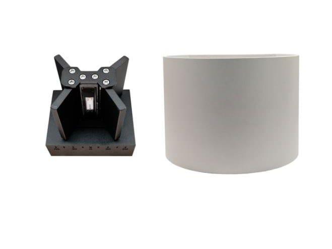 LED direct-indirect light aluminium wall lamp RUBBIK by LED BCN