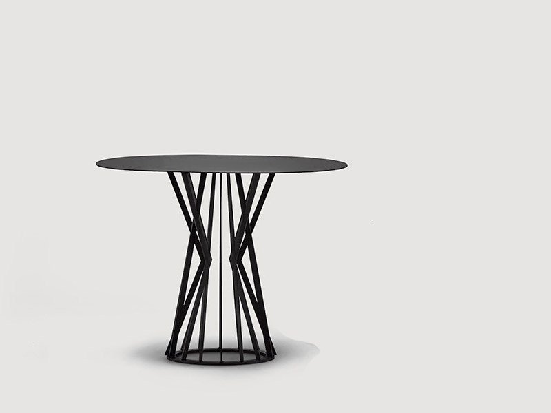 Round metal living room table RUBIC by da a