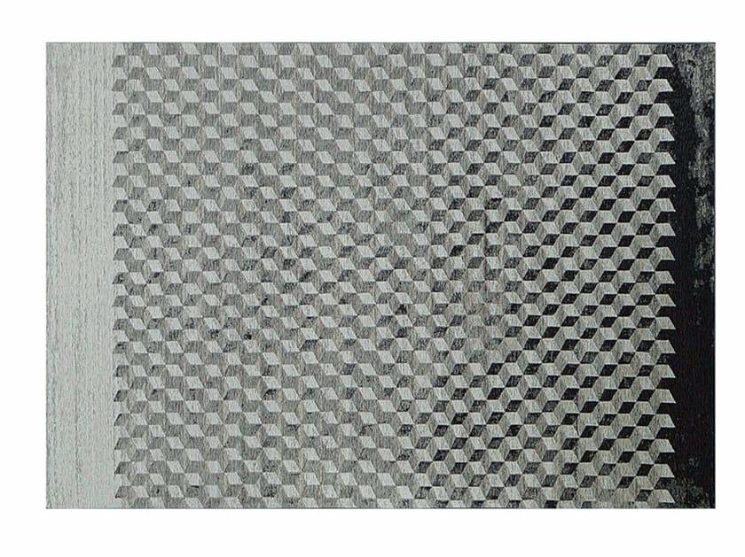 Rectangular rug with geometric shapes RUBIK by Cattelan Italia