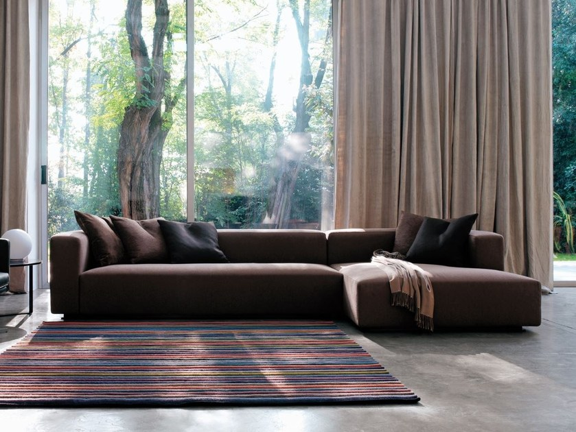 Modular fabric sofa with removable cover RUBIK by Verzelloni